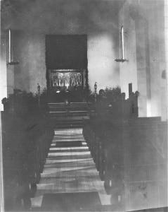 Five Angels over main altar [Saints Alive, spring 2020]