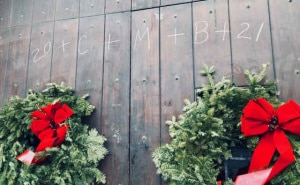 CHALKING THE DOOR AT EPIPHANY