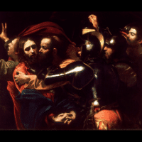 Second Station: Jesus betrayed by Judas and arrested